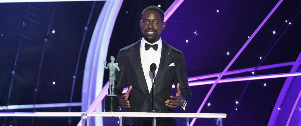 PHOTO: Sterling K. Brown onstage during the 24th Annual Screen Actors Guild Awards at The Shrine Auditorium, Jan. 21, 2018, in Los Angeles.