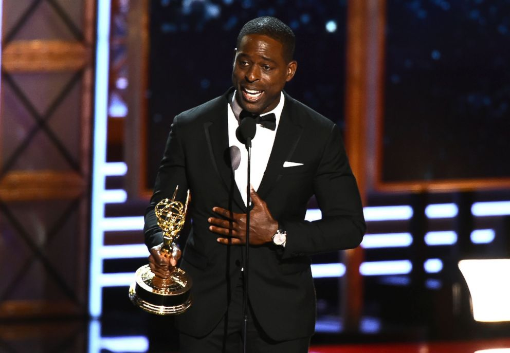 PHOTO: Sterling K. Brown accepts the award for Outstanding Lead Actor in a Drama Series for This is Us onstage during the 69th Emmy Awards at the Microsoft Theatre, Sept. 17, 2017, in Los Angeles