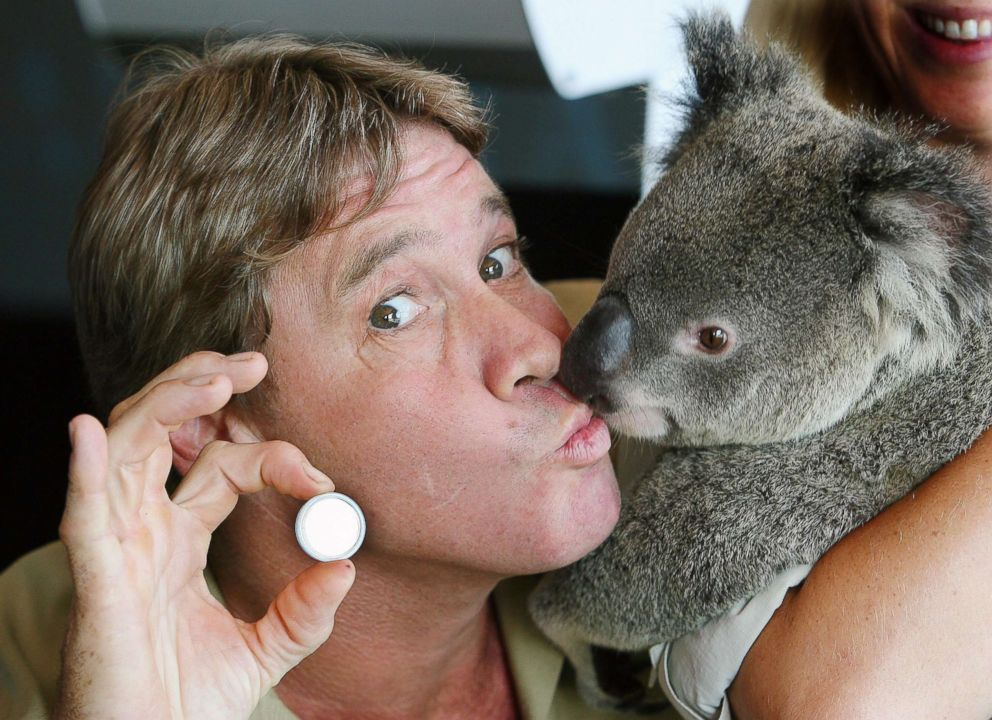 PHOTO: In this file photo, Crocodile Hunter Steve Irwin with Luca the Koala and a legal tender coin released by Perth Mint, Jan. 24, 2006, in Sunshine Coast, Australia.