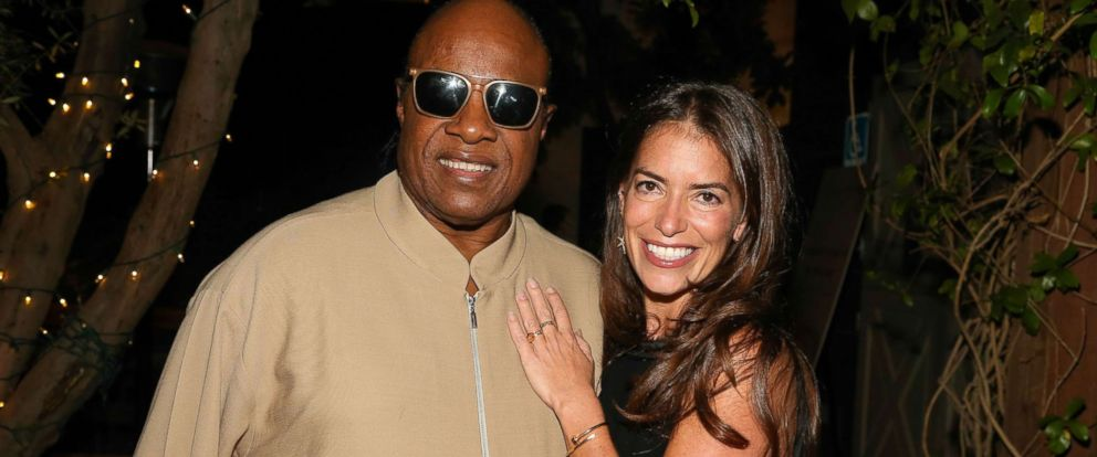PHOTO: Recording artist Stevie Wonder and Divorce Attorney Laura Wasser  attend Laura Wassers Book Party