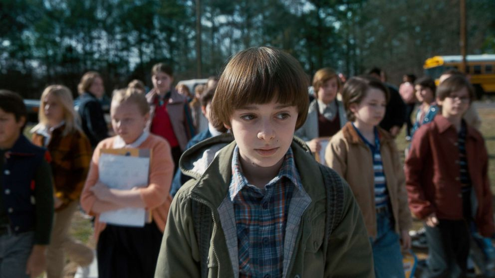 "Noah Schnapp appears in a scene from ""Stranger Things 2."""