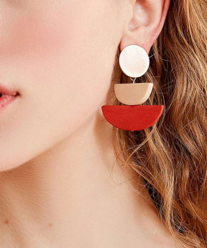 PHOTO: Wear the sculptural earring trend as easily as you wear hoops—pair them with everything.