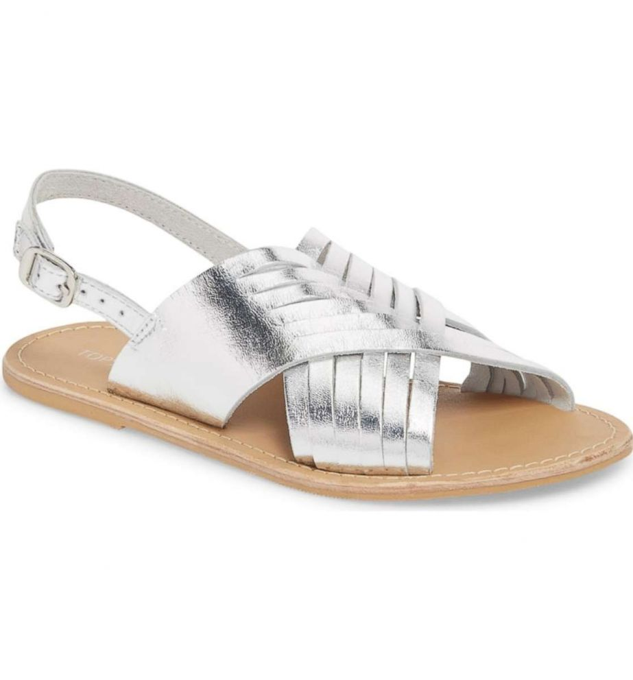 PHOTO: Step out in these breathable woven sandals that boost any outfit with a little shimmer.