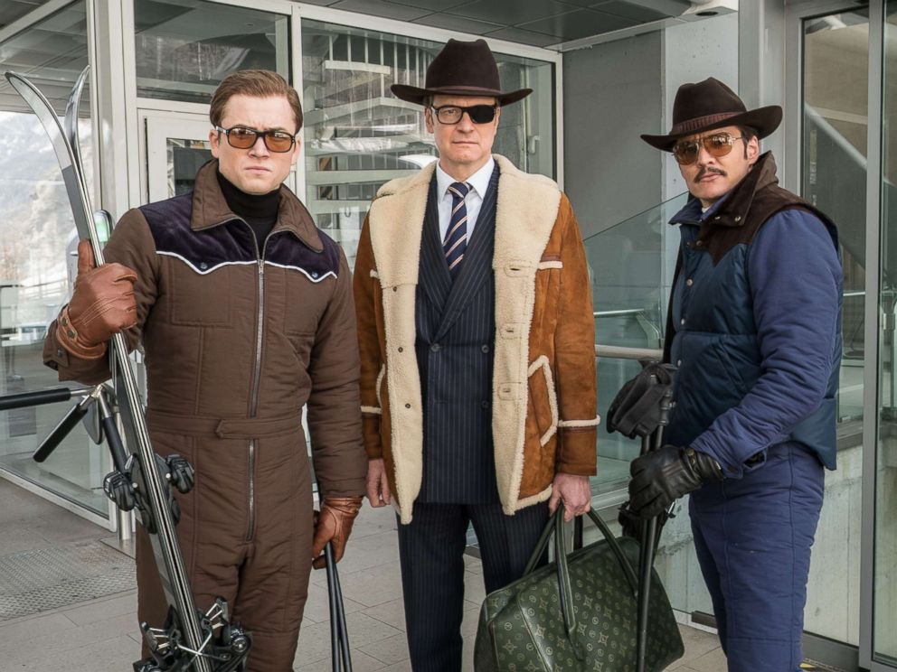 PHOTO: Taron Egerton, Colin Firth and Pedro Pascal star in Kingsman: The Golden Circle.