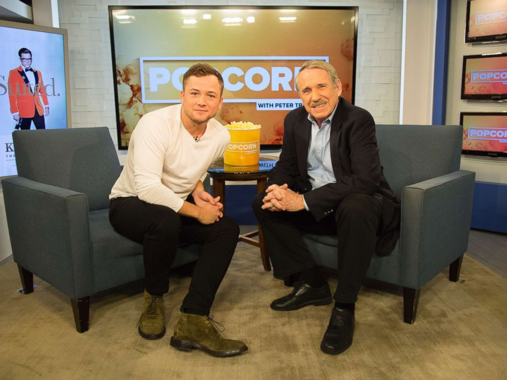 PHOTO: Taron Egerton appears on Popcorn with Peter Travers at ABC News studios, Sept. 11, 2017, in New York City.