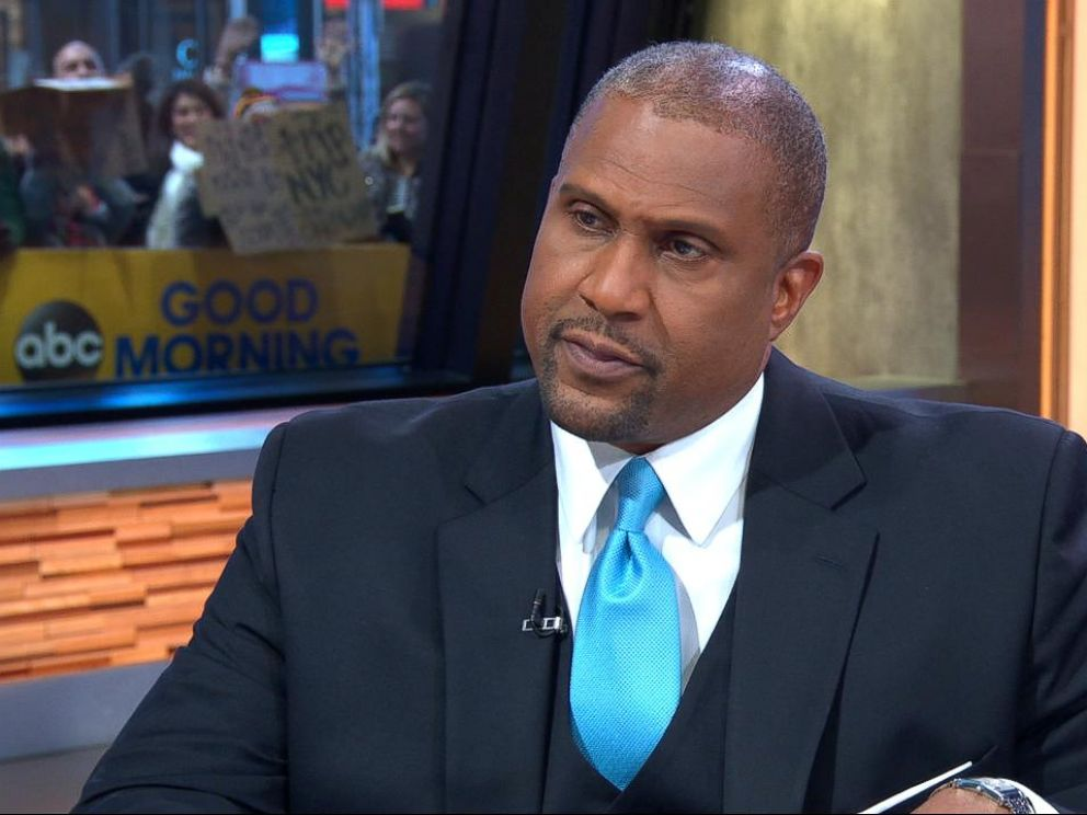 PHOTO: Tavis Smiley responded to sexual harassment claims during a live interview on Good Morning America on Monday, Dec. 18, 2017.