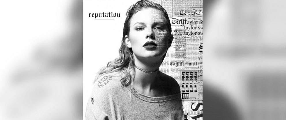 """PHOTO: This cover image released by Big Machine shows art for Taylor Swifts upcoming album, """"reputation,"""" expected Nov. 10, 2017."""