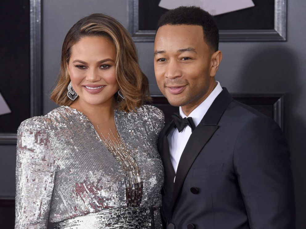 PHOTO: Chrissy Teigen and John Legend attends the 60th annual Grammy Awards at Madison Square Garden, Jan. 28, 2018, in New York City.