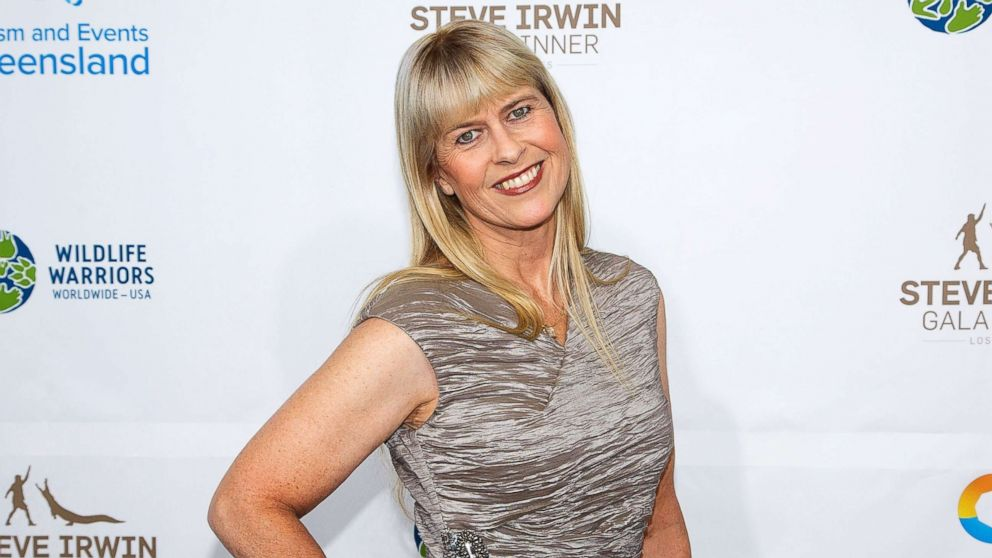 Terri Irwin arrives for the Steve Irwin Gala Dinner at JW Marriott Los Angeles at L.A. LIVE, May 21, 2016, in Los Angeles.
