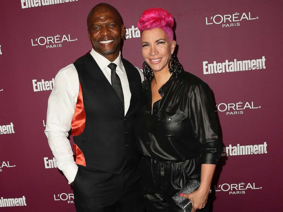 PHOTO: Terry Crews and his wife, Rebecca King-Crews, attend the Entertainment Weeklys 2017 Pre-Emmy Party at the Sunset Tower Hotel, Sept. 15, 2017, in West Hollywood, Calif.