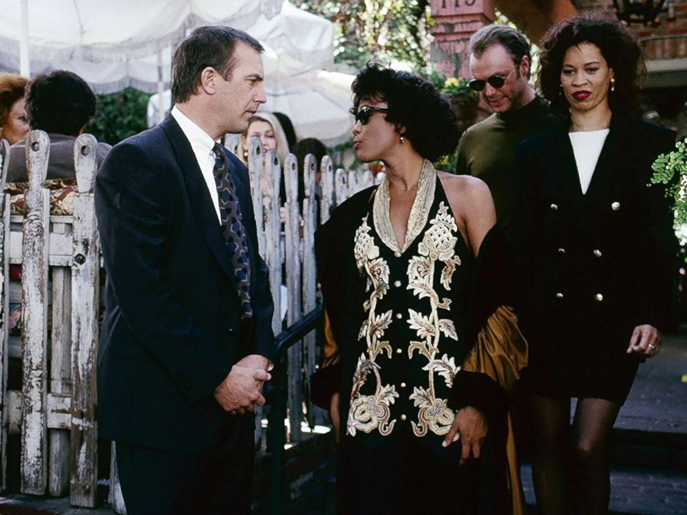 PHOTO: Kevin Costner and Whitney Houston appear in a scene from The Bodyguard.