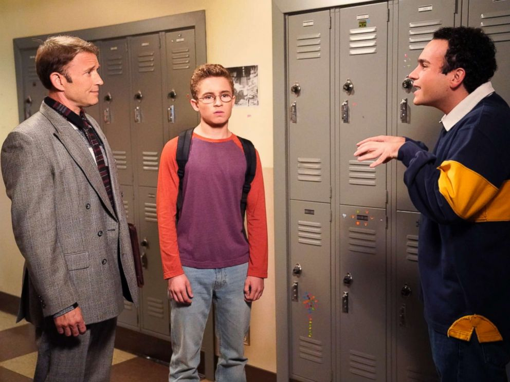 PHOTO: Ilan Mitchell-Smith, Sean Giambrone and Troy Gentile appear on the season premiere of The Goldbergs on Sept. 27, 2017.