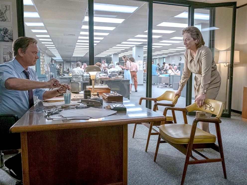 PHOTO: Tom Hanks and Meryl Streep in the movie,The Post.