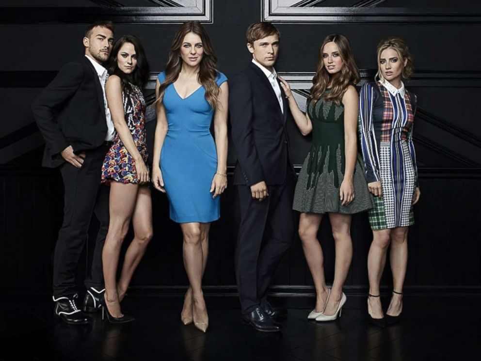 PHOTO: Elizabeth Hurley, William Moseley, Merritt Patterson, Alexandra Park, Tom Austen, and Sophie Colquhoun in The Royals.