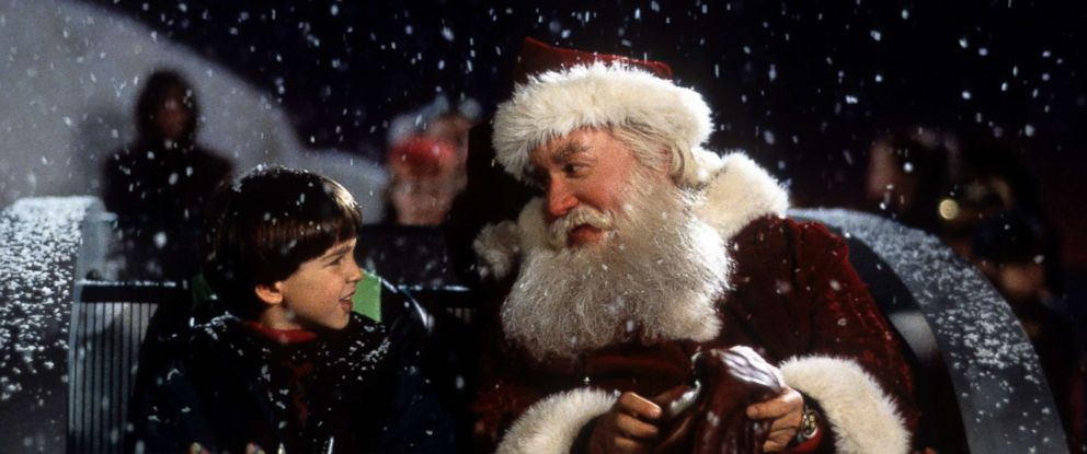 photo tim allen on a sled talking with eric lloyd in a scene from the - Black Christmas Movies On Netflix
