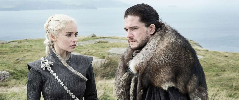 PHOTO: Emilia Clarke as Daenerys Targaryen and Kit Harington as Jon Snow appear in season 7, episode 5 of Game of Thrones, Aug. 13, 2017.