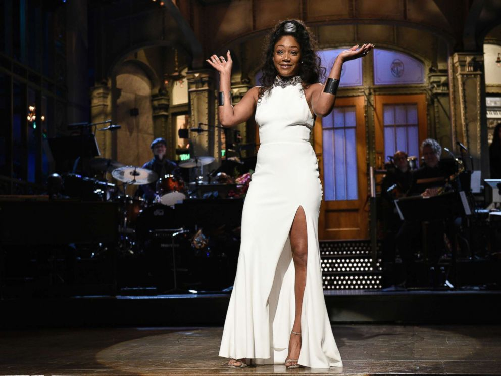 PHOTO: Host Tiffany Haddish during the Opening Monologue on Saturday Night Live, Nov. 11, 2017.