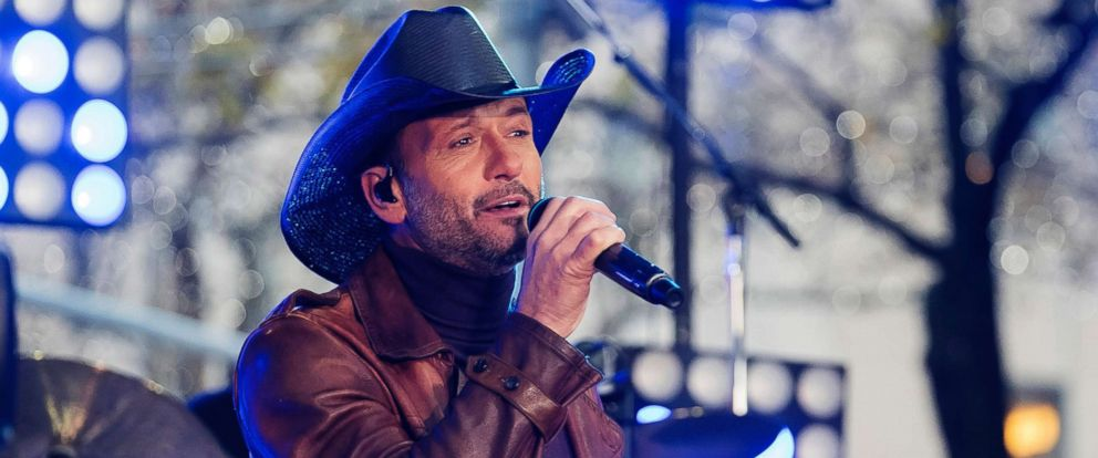 PHOTO: In this Nov. 17, 2017, file photo, Tim McGraw performs at Rockefeller Plaza in New York City. McGraw collapsed onstage during a performance in Dublin, Ireland, March 11, 2018, the Rolling Stone reports.