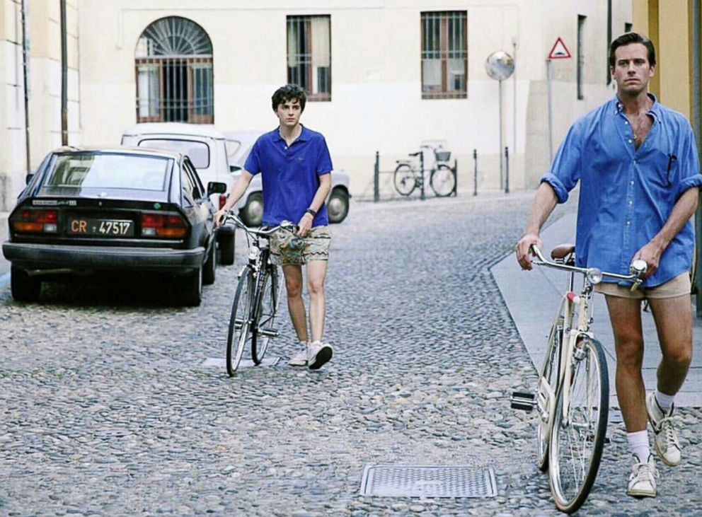 PHOTO: Armie Hammer and Timothee Chalamet appear in a scene in Call Me by Your Name.