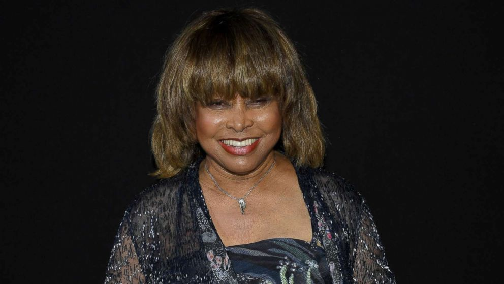 Tina Turner attends the Giorgio Armani Prive Haute Couture Fall Winter 2018/2019 show as part of Paris Fashion Week, July 3, 2018, in Paris.