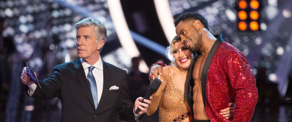 """PHOTO: Tom Bergeron, Emma Slater and Rashad Jenning in an episode of """"Dancing with the Stars,"""" May 23, 2017"""