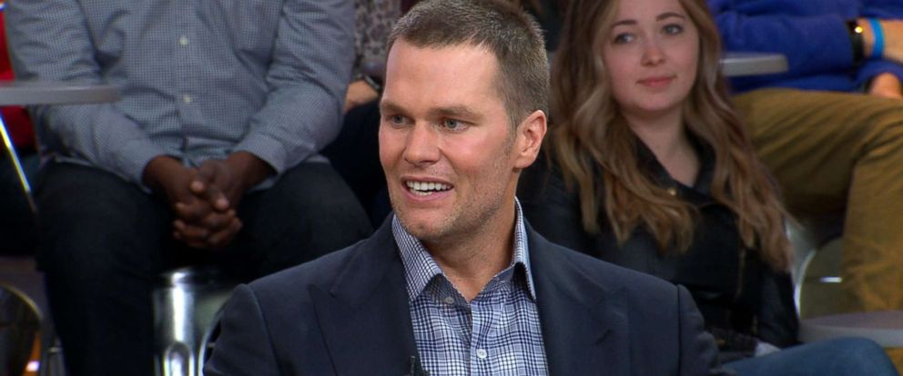 "PHOTO: Tom Brady speaks out on ""GMA"" about his Facebook Watch series ""Tom vs. Time."