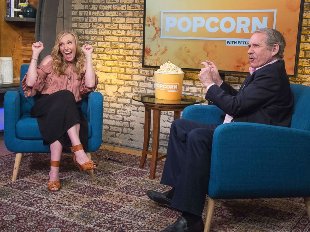 PHOTO: Toni Collette appears on Popcorn with Peter Travers at ABC News studios, May 10, 2018, in New York City.