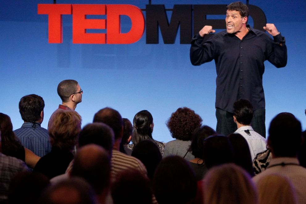 PHOTO: Tony Robbins speaks at TEDMED on October 28, 2010 in San Diego.