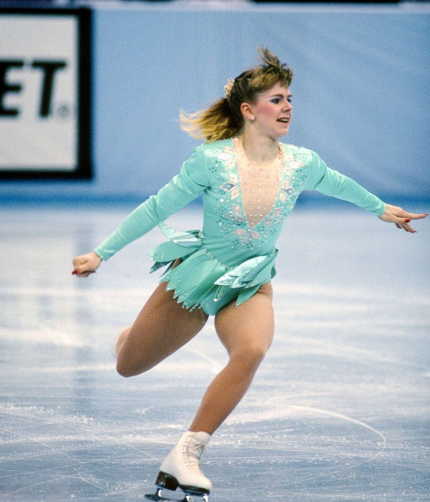 PHOTO: Figure Skater Tonya Harding competes in the U.S. Figure Skating Championships, circa 1991, in Minneapolis.