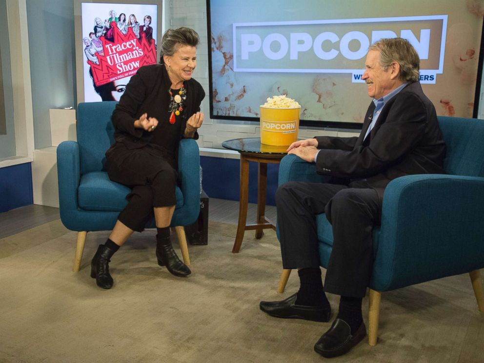 PHOTO: Tracey Ullman appears on Popcorn with Peter Travers at ABC News studios, Oct. 11, 2017, in New York City.