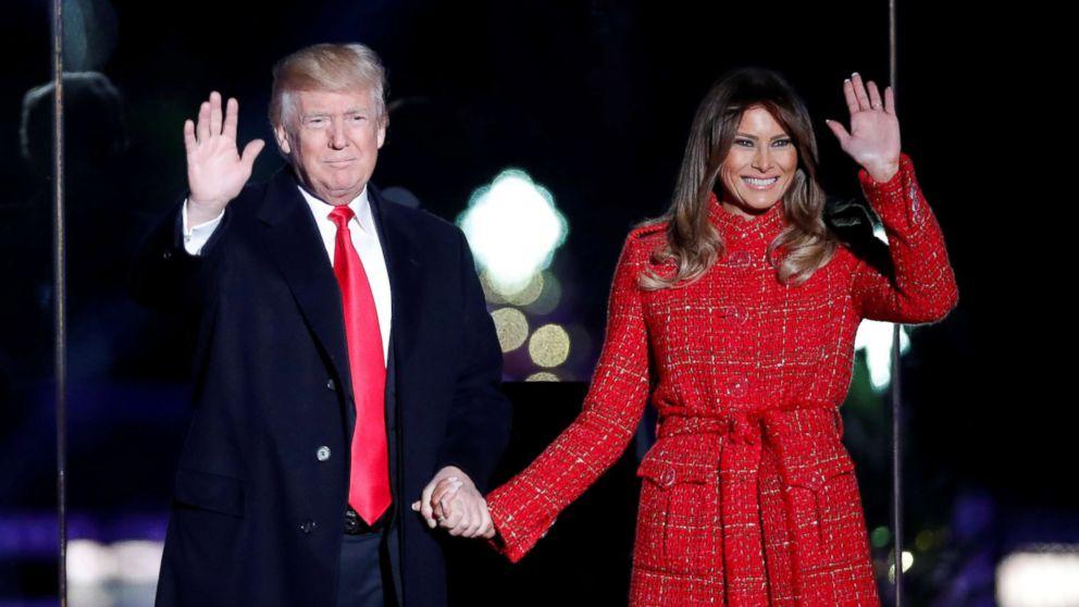 Donald Trump Christmas Tree Lighting Ceremony 2020 Melania Trump leads 95th annual National Christmas Tree lighting