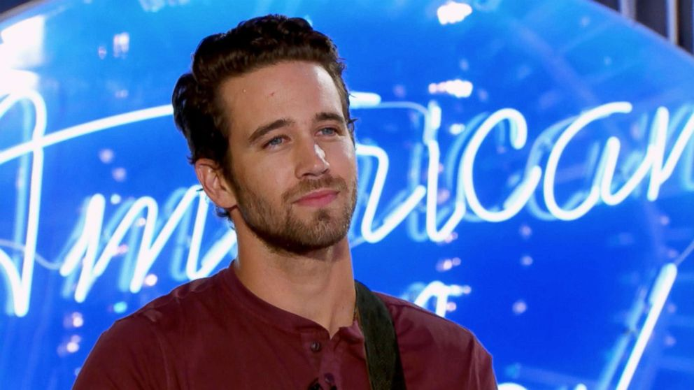 PHOTO: American Idol contestant Trevor Holmes reacts to Katy Perry calling him hot on the show.