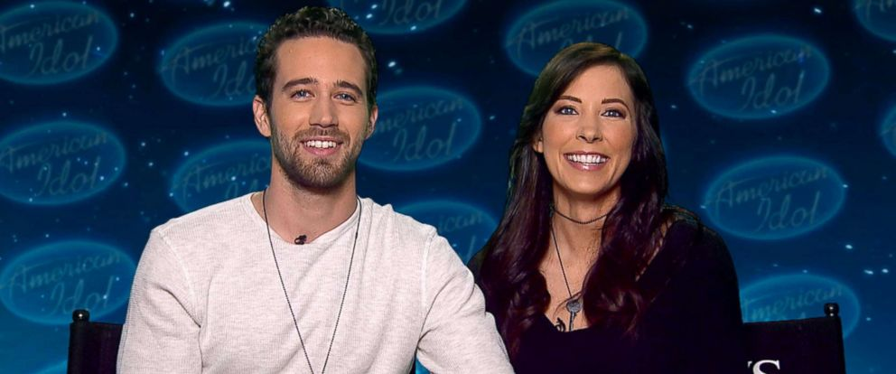 "PHOTO: American Idol"" contestant Trevor Holmes and his girlfriend Sierra Nielsen talk about Katy Perrys flirtation on ""Good Morning America"" on March. 14, 2018."