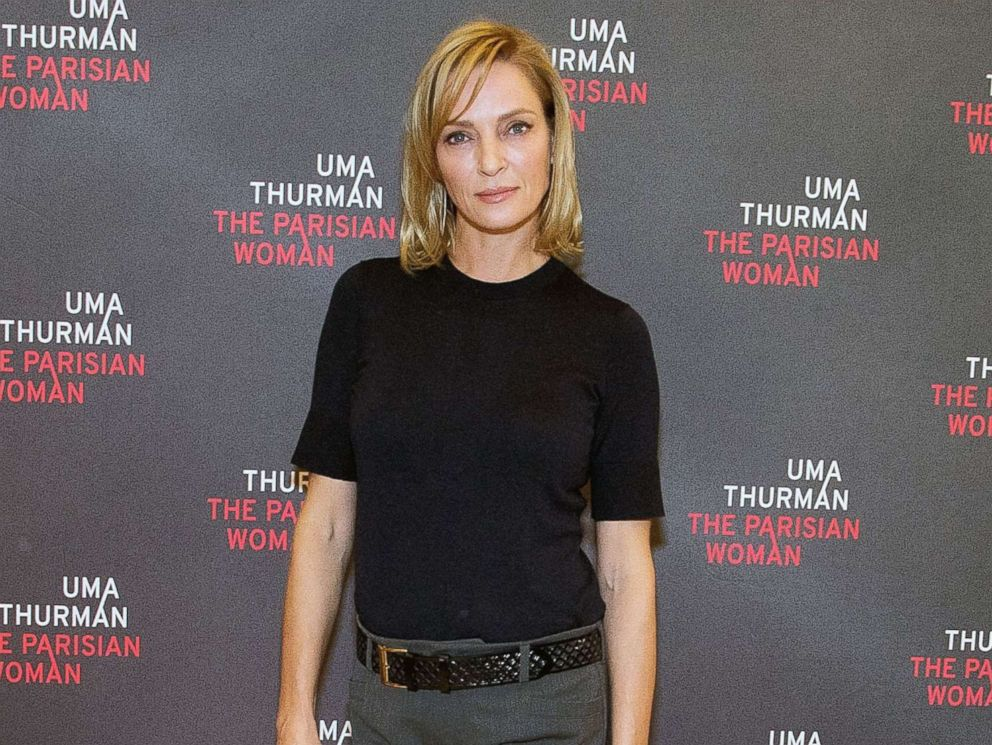 PHOTO: Actress Uma Thurman at The New 42nd Street Studios, Oct. 18, 2017, in New York.