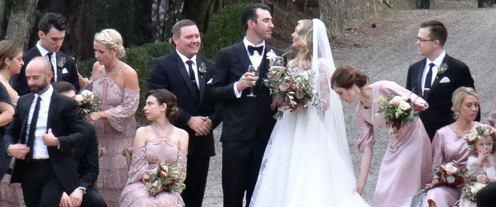 PHOTO: Justin Verlander and Kate Upton wed on Nov. 4, 2017 in Italy.