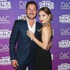 Val Chmerkovskiy and Jenna Johnson attend the 2017 Industry Dance Awards and Cancer Benefit show at Avalon, Aug. 16, 2017, in Hollywood, California.