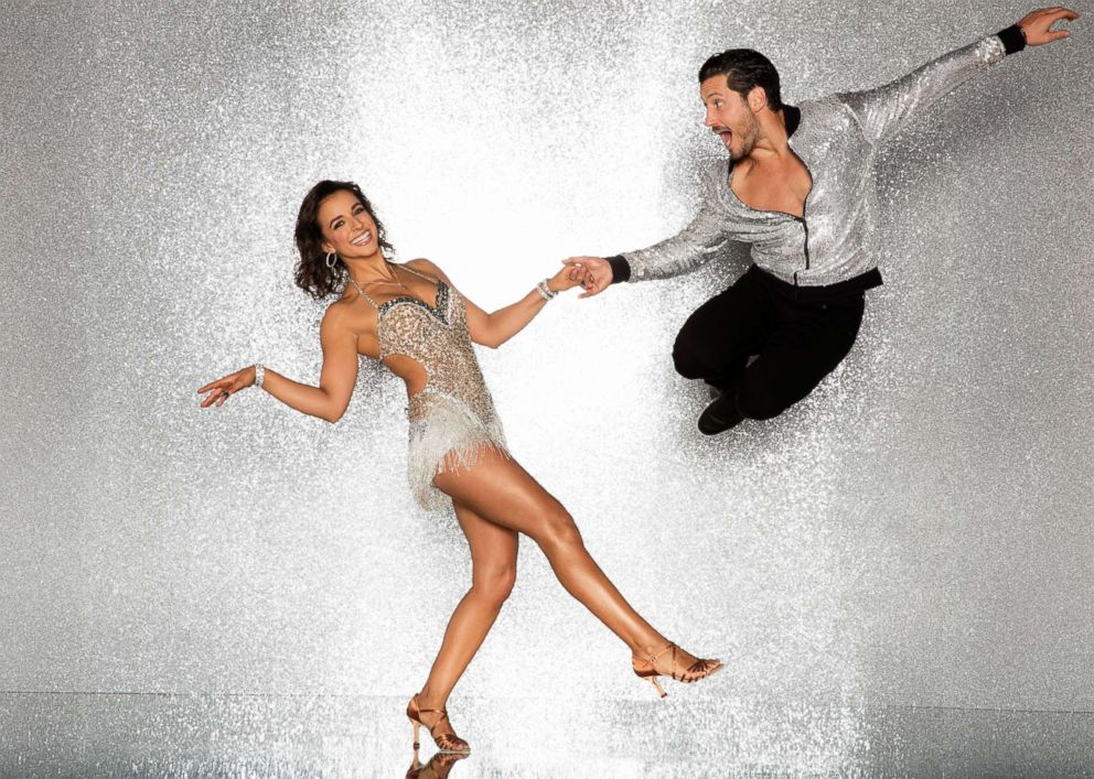 PHOTO: Victoria Arlen and pro dancer Val Chmerkovskiy will compete for the mirror ball title on the new season Dancing With The Stars.