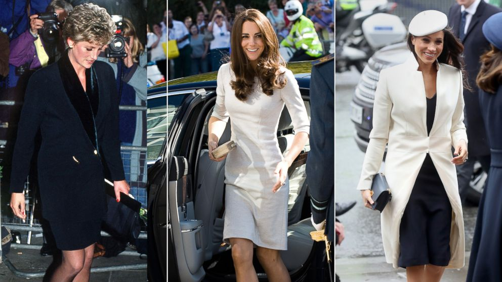 Princess Diana, Duchess Catherine and Meghan Markle, have all worn outfits designed by Amanda Wakeley.
