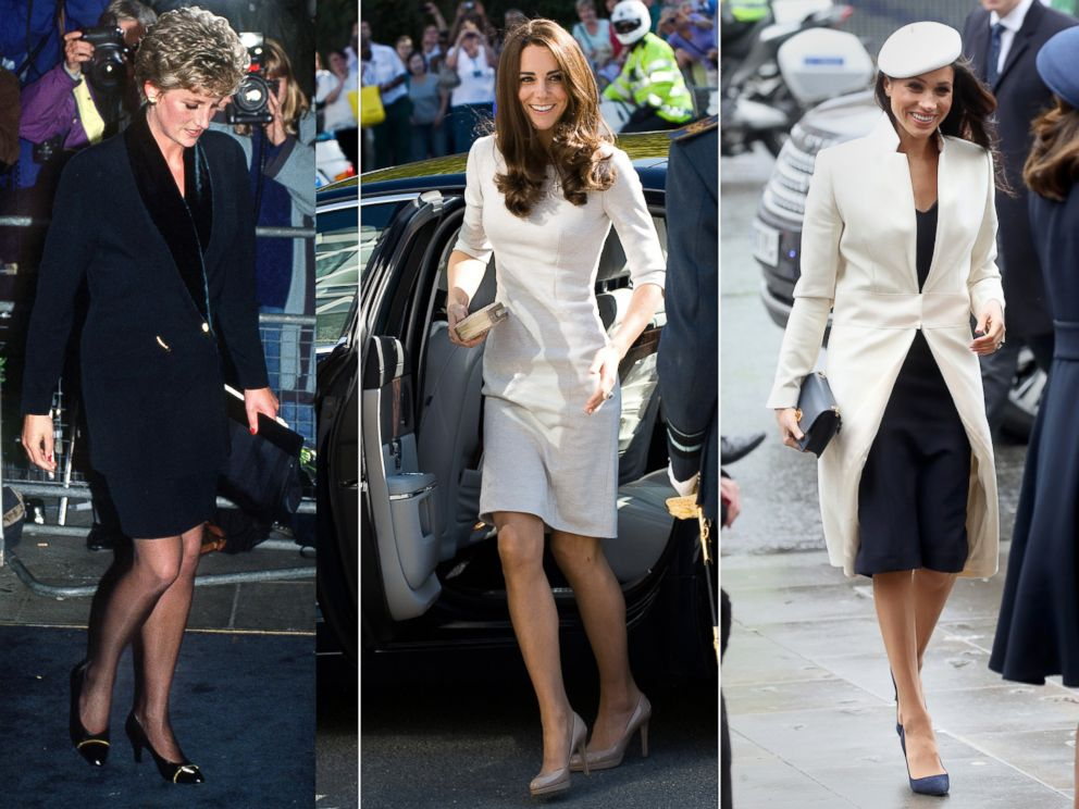 PHOTO: Princess Diana, Duchess Catherine and Meghan Markle, have all worn outfits designed by Amanda Wakeley.