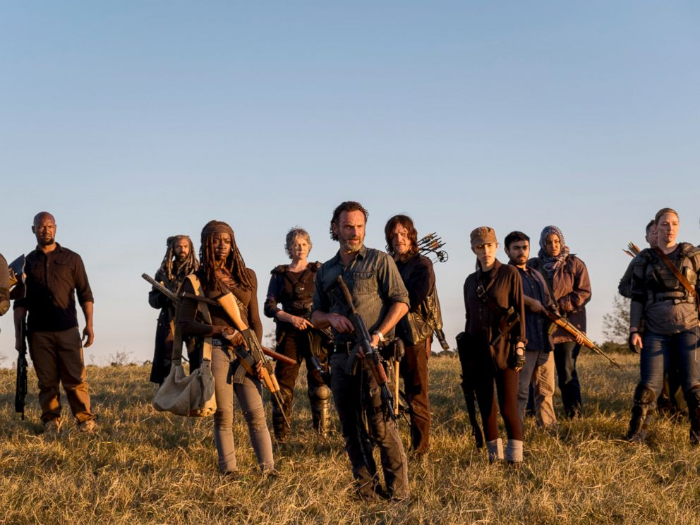 PHOTO: The cast of The Walking Dead season 8 are pictured in this promotional photo.