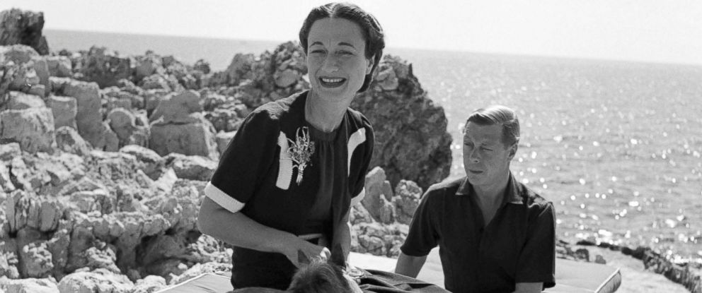 Image result for photos King Edward VIII and his feisty American lover Wallis Simpson.