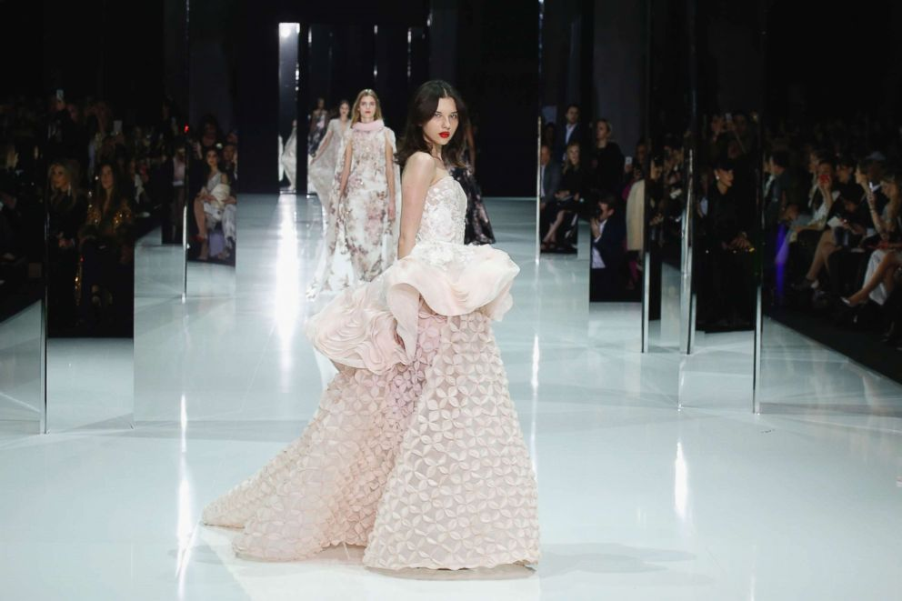 PHOTO: A model walks the runway during the Ralph & Russo Spring/Summer 2018 show at Paris Fashion Week, Jan. 22, 2018, in Paris.