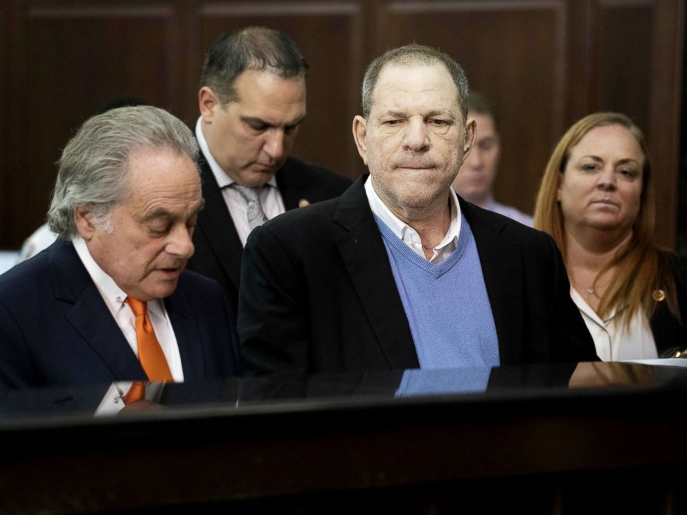PHOTO: Harvey Weinstein along with his attorney Benjamin Brafman, left, appears at his arraignment in Manhattan Criminal Court, May 25, 2018.
