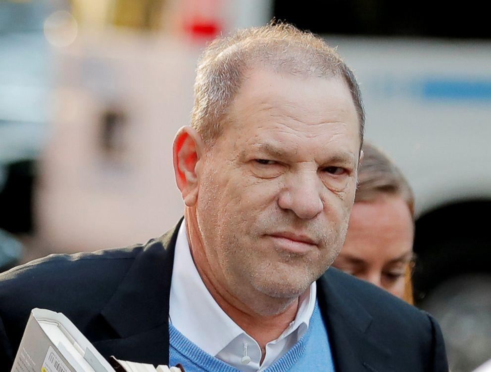 Film producer Harvey Weinstein arrives at the 1st Precinct in Manhattan in New York, May 25, 2018.