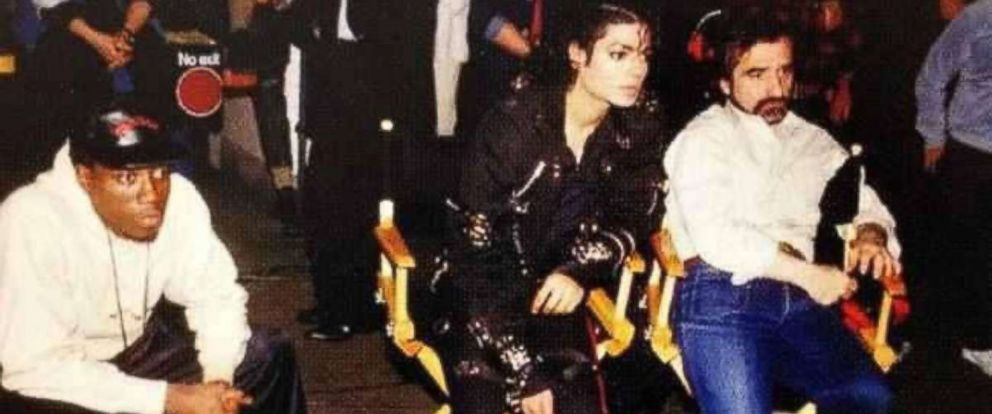 "PHOTO: Martin Scorsese, Wesley Snipes, and Michael Jackson in ""Michael Jackson: Bad,"" 1987."