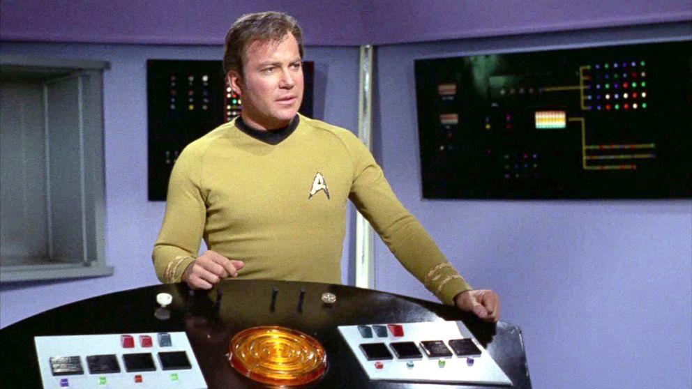 "William Shatner as Captain James T. Kirk on the Star Trek: The Original Series episode, ""Whom Gods Destroy,"" originally aired Jan. 3, 1969."