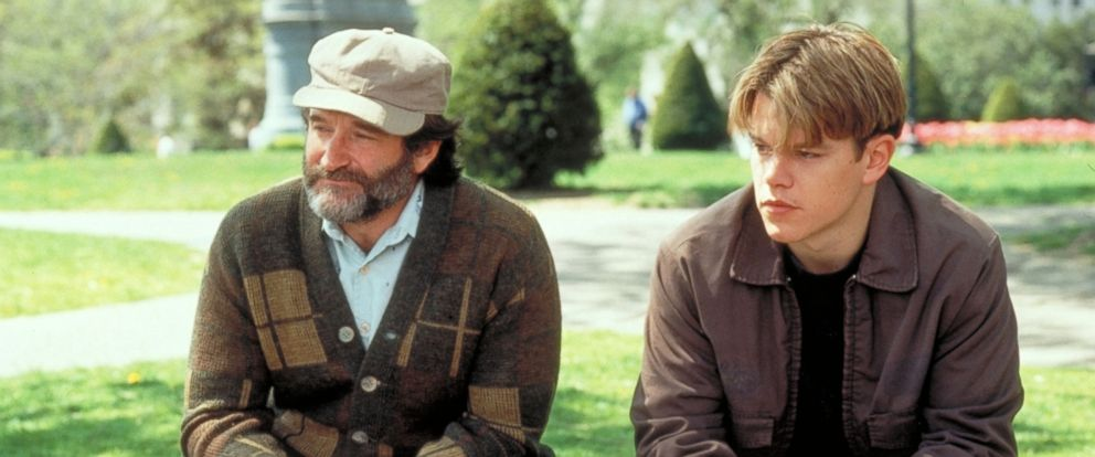 "PHOTO: Robin Williams and Matt Damon in ""Good Will Hunting,"" 1997."