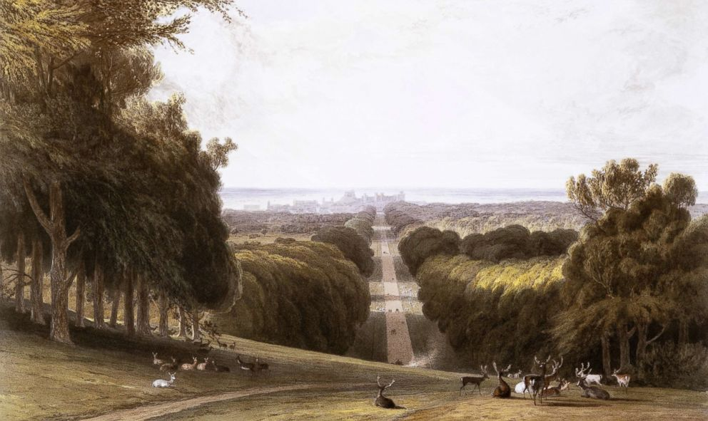 PHOTO: This historic print of The Long Walk was published in the book Views of Windsor in London, 1827-1830.