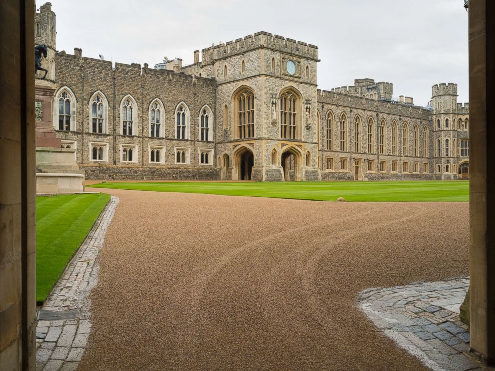 PHOTO: The courtyard of Windsor Palace in Berkshire, England is pictured in this undated stock photo.