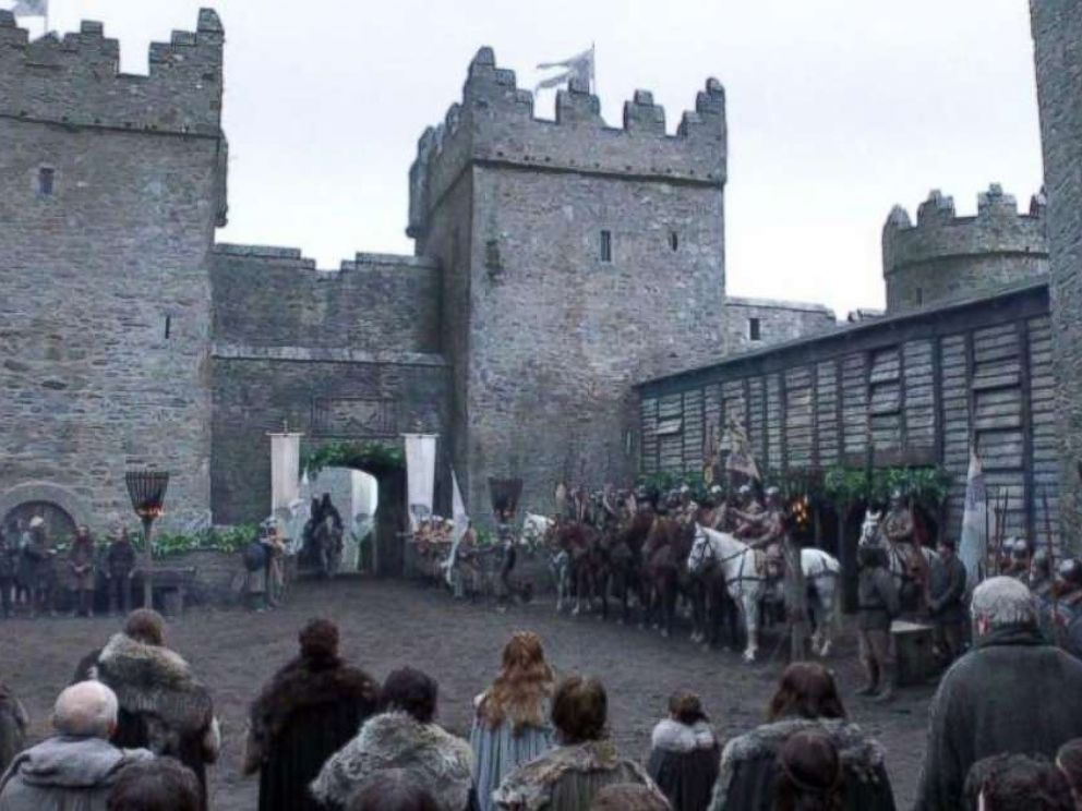 PHOTO: Winterfell castle, Season 1 of Game of Thrones.